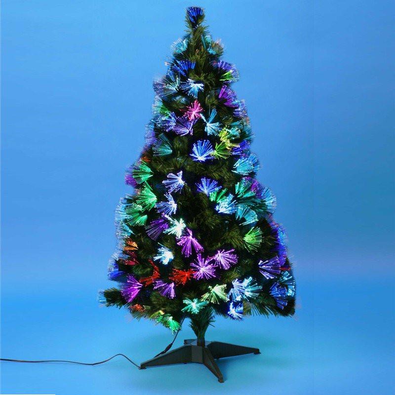 sapin de noel en fibre optique Sapin de Noël artificiel décoré | Fibre optique + LED | Pas cher sapin de noel en fibre optique