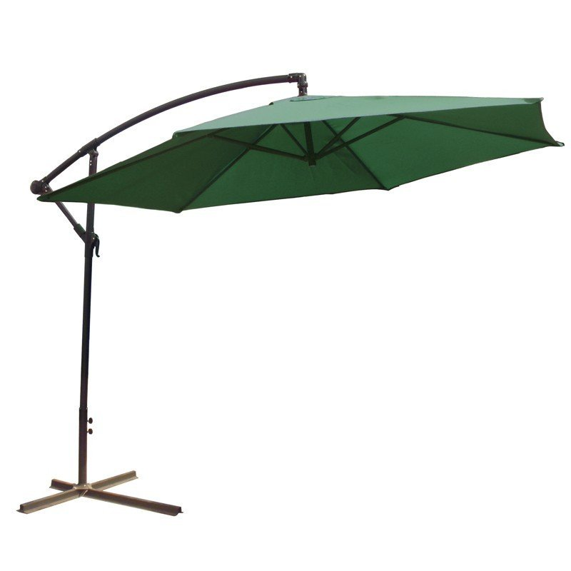 Parasol déporté 3 mètres vert