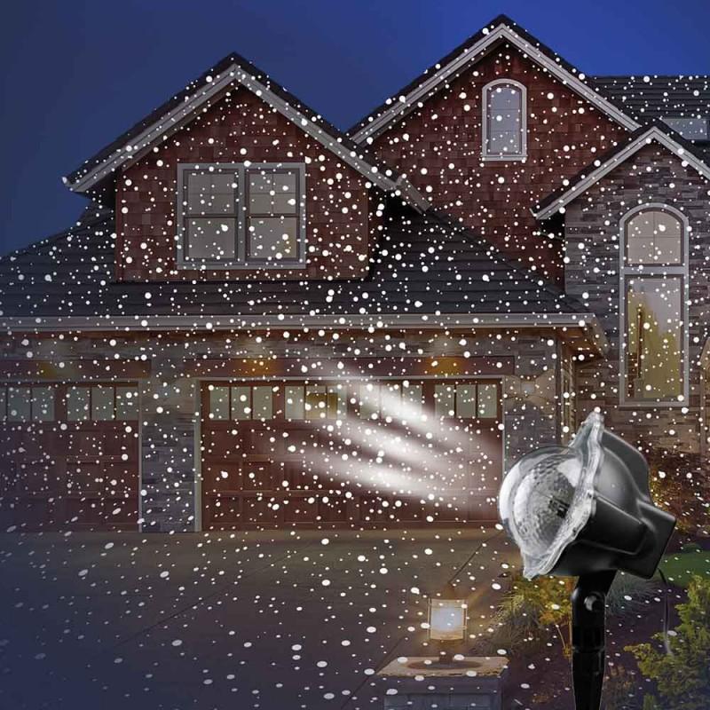 Projecteur LED intérieur / extérieur effet neige