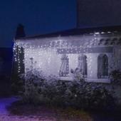 Rideau lumineux blanc 4, 6, 8 ou 10 mètres