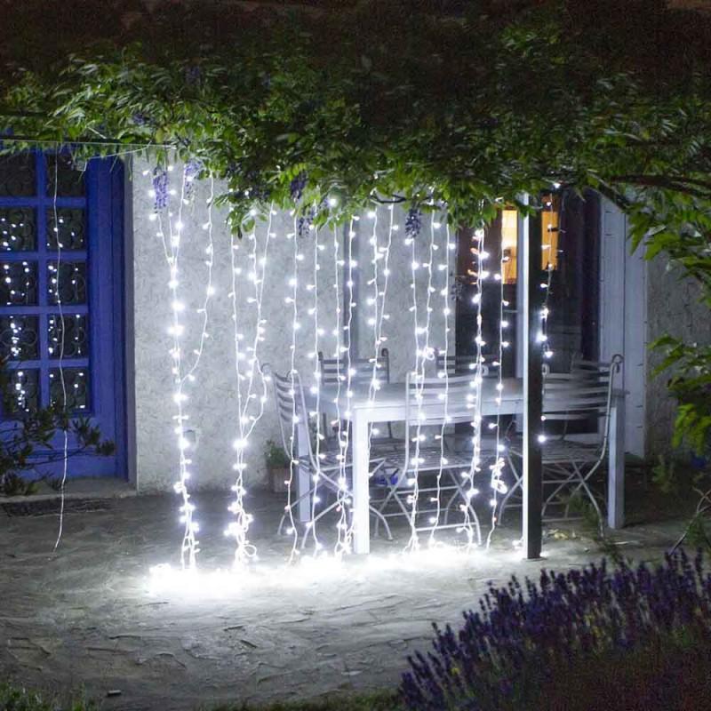 Rideau lumineux à LED multicolore ou blanc de 1, 2, 3 ou 4 mètres