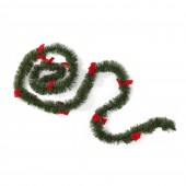 Guirlande de sapin de Noël verte et rouge