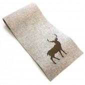 Chemin de table de Noël avec renne