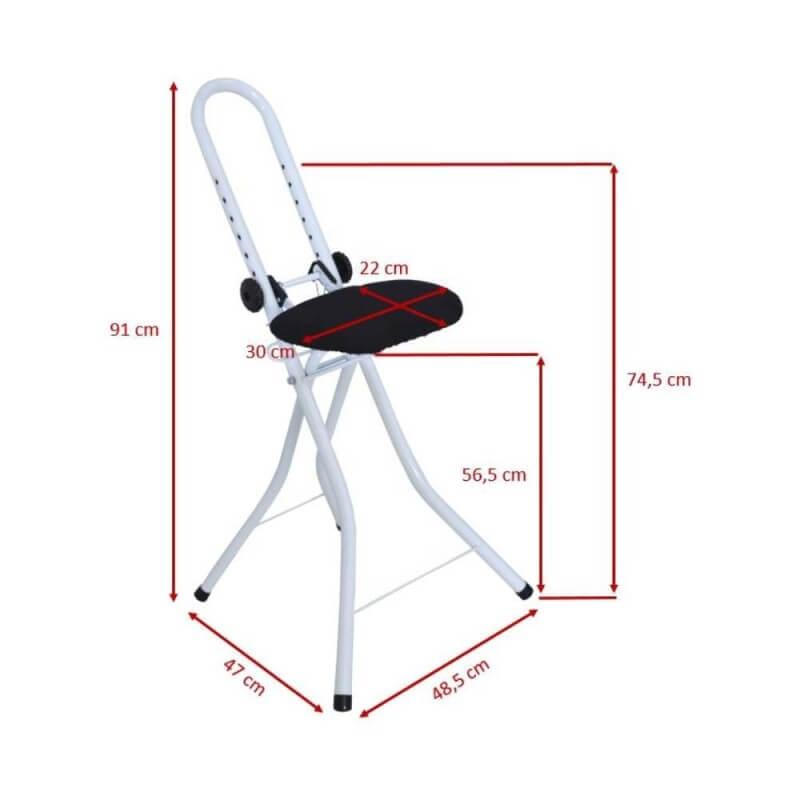Chaise de repassage anti fatigue pliable et réglable (3)