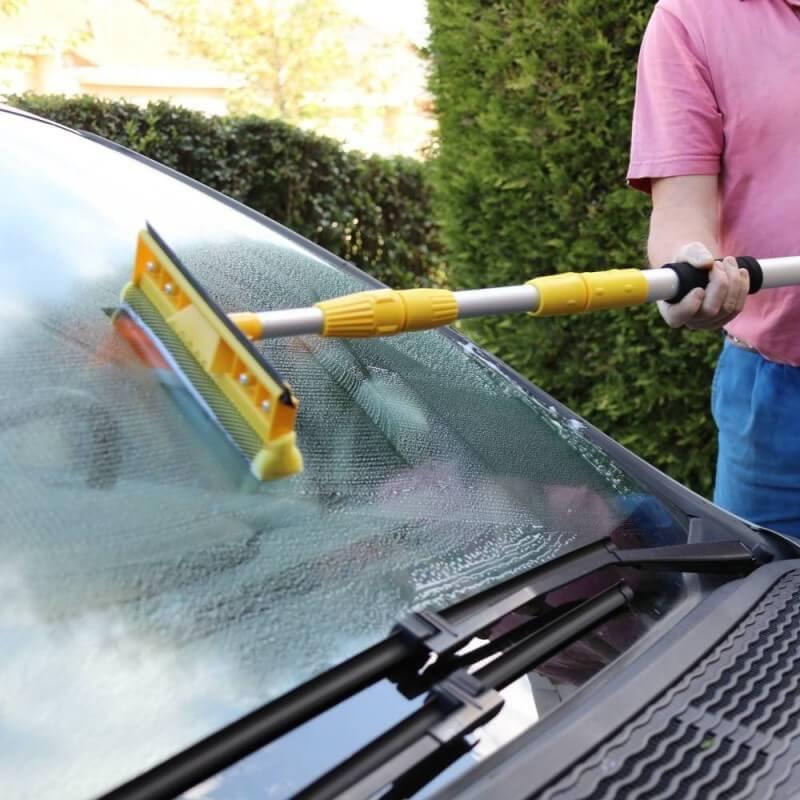 Balai brosse de lavage télescopique voiture 3m (7)