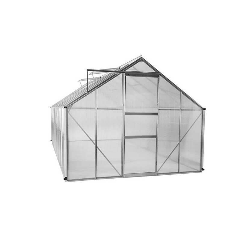 Serre de jardin polycarbonate et aluminium 12m2 (2)