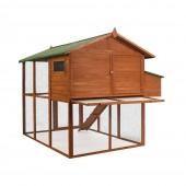 """Poulailler en bois """"luxe"""" : 2 niveaux avec pondoir"""