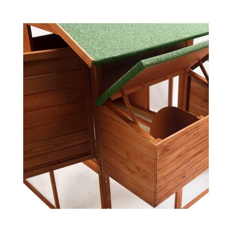 """Poulailler en bois """"luxe"""" : 2 niveaux avec pondoir (1)"""