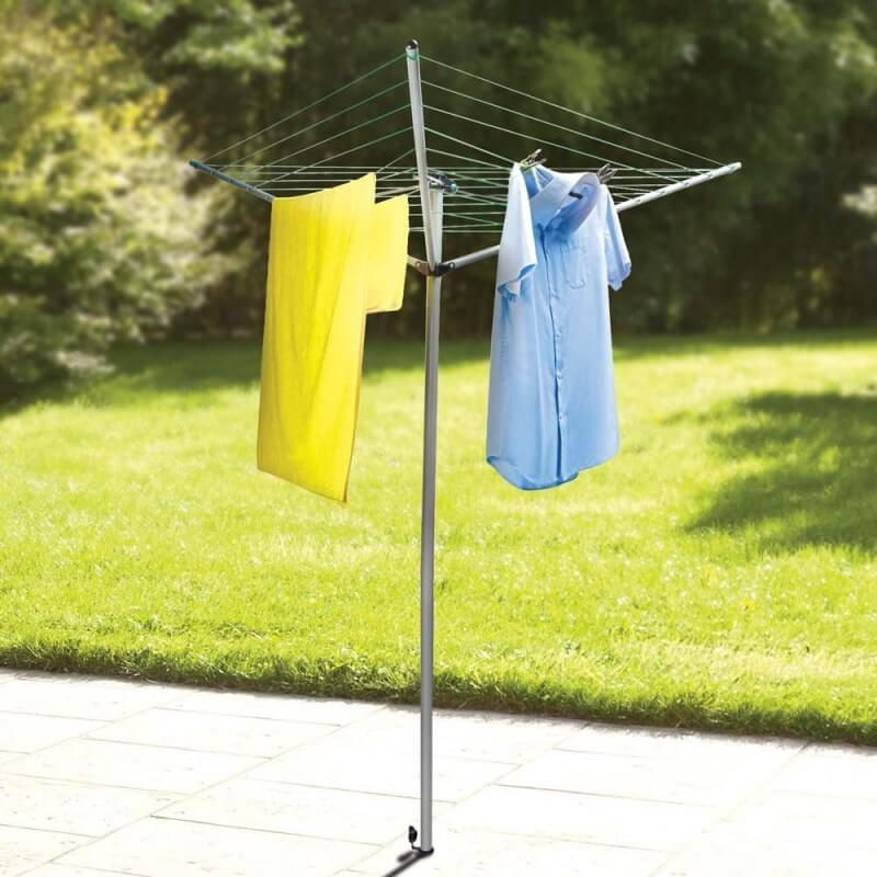 Séchoir à linge parapluie pliable avec support (1)