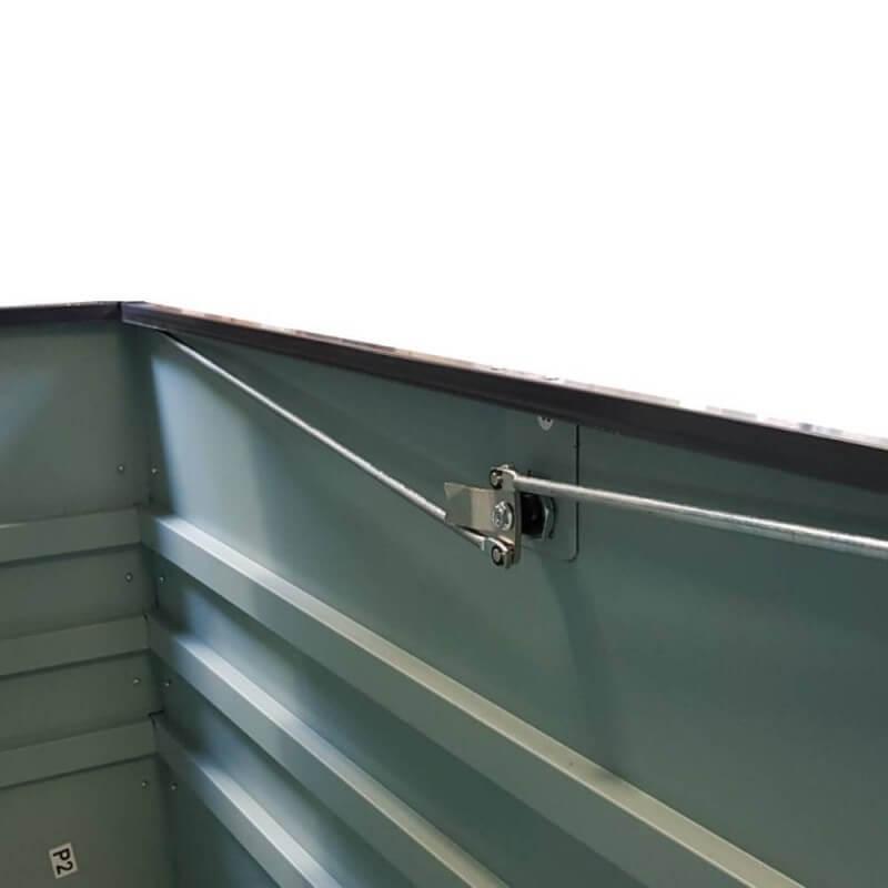 Coffre de rangement jardin en métal (3)