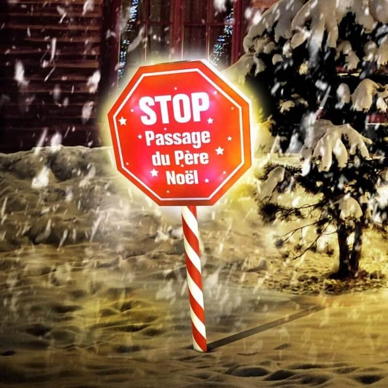 Panneau stop passage du Père Noël (1)
