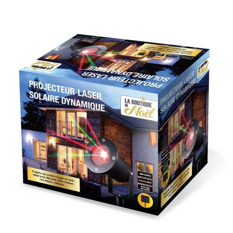 Projecteur laser de Noël solaire