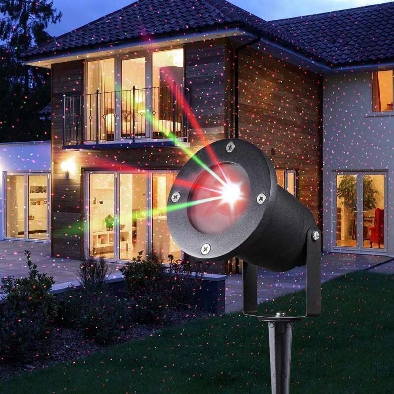 Projecteur laser de Noël solaire (2)