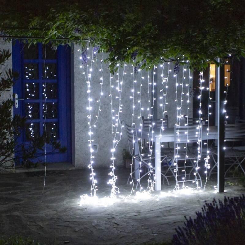 Rideau lumineux LED stalactite (2)