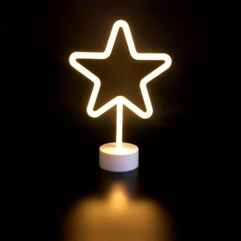 Étoile lumineuse blanche à poser (1)