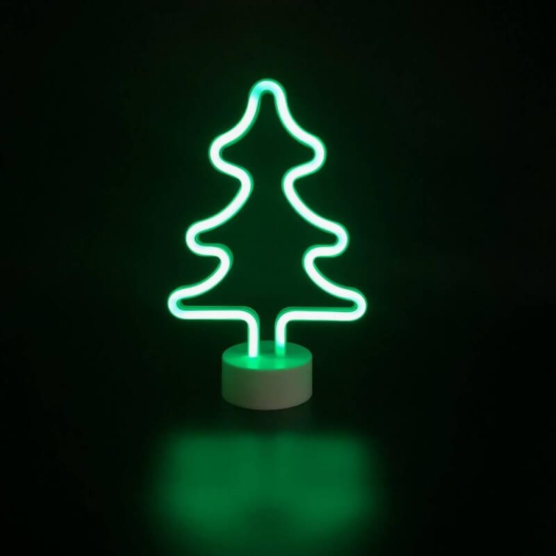 Petit sapin lumineux vert à poser (1)