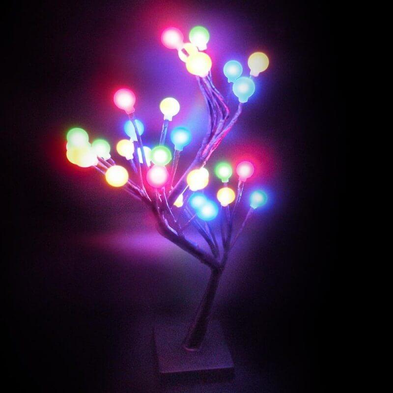 Arbre lumineux multicolore (1)