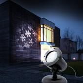 Projecteur de Noël motif flocons neige