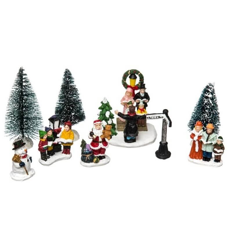 Personnage Pour Village De Noel Figurines de Noël et accessoires pour village de Noël pas chers