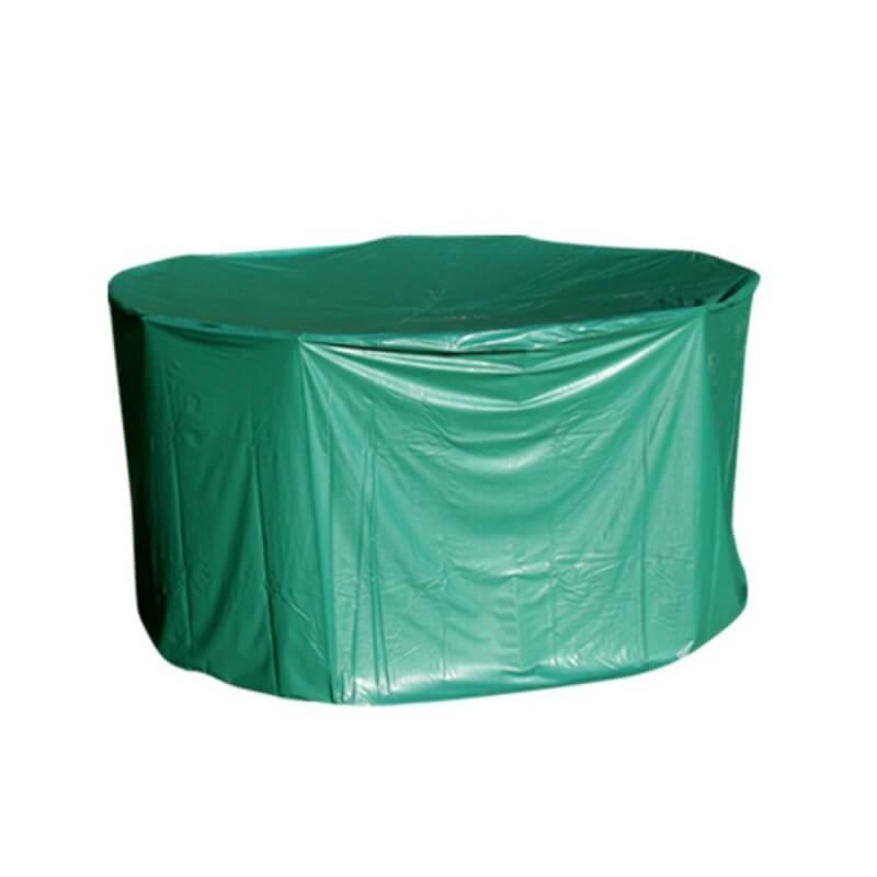 Housse de protection PVC table ronde de jardin - extérieur
