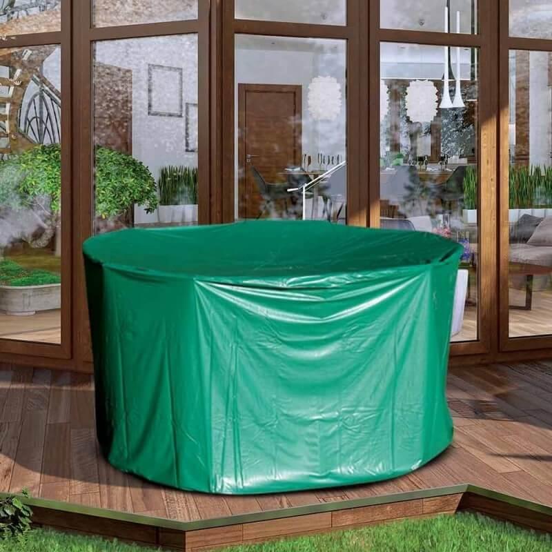 Housse de protection PVC table ronde de jardin - extérieur (2)