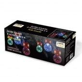 Boules de sapin de Noël solaires lot de 4