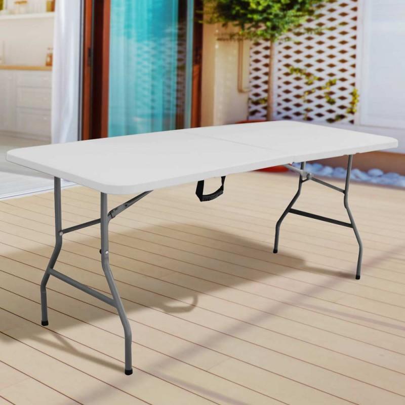 Table de jardin pliante 8 personnes 180cm (4)