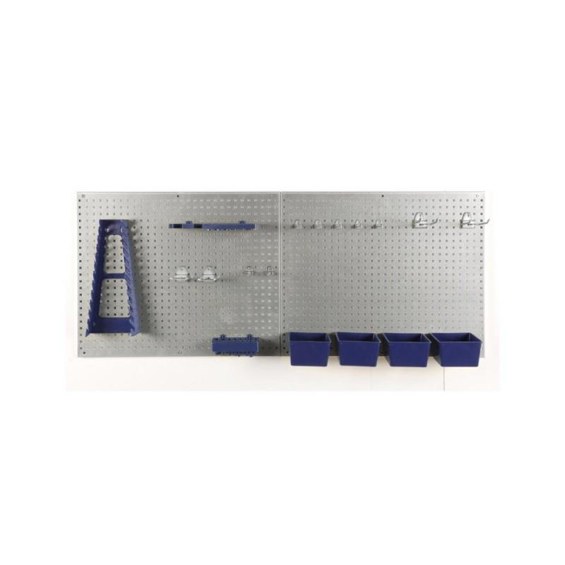 Lot de 7 accessoires et boites en plastique pour panneaux porte outils (5)