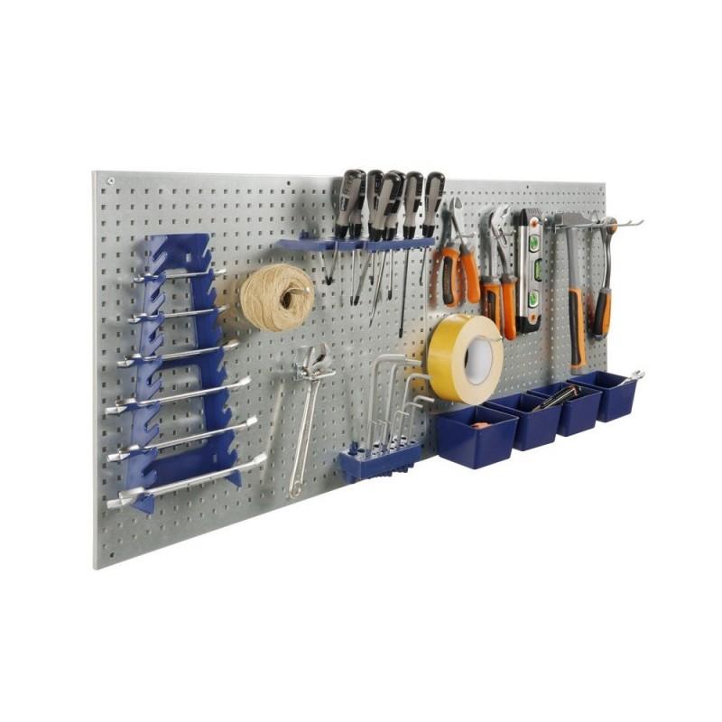 Lot de 7 accessoires et boites en plastique pour panneaux porte outils (6)