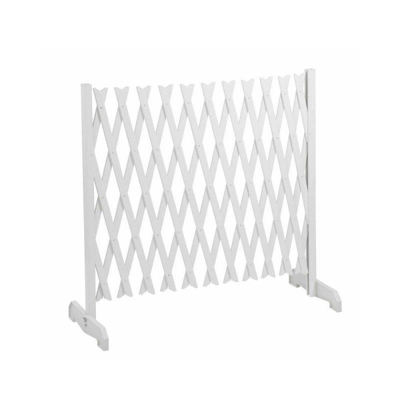 Barrière de protection extensible blanche plastique
