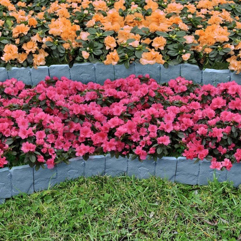 Bordures de jardin imitation pierre - Par 10 (2)