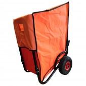 Chariot de jardin pliable 2 roues avec housse