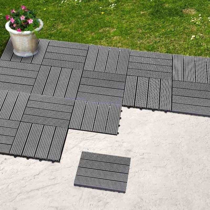 Dalle terrasse composite effet bois - Lot de 5 (2)