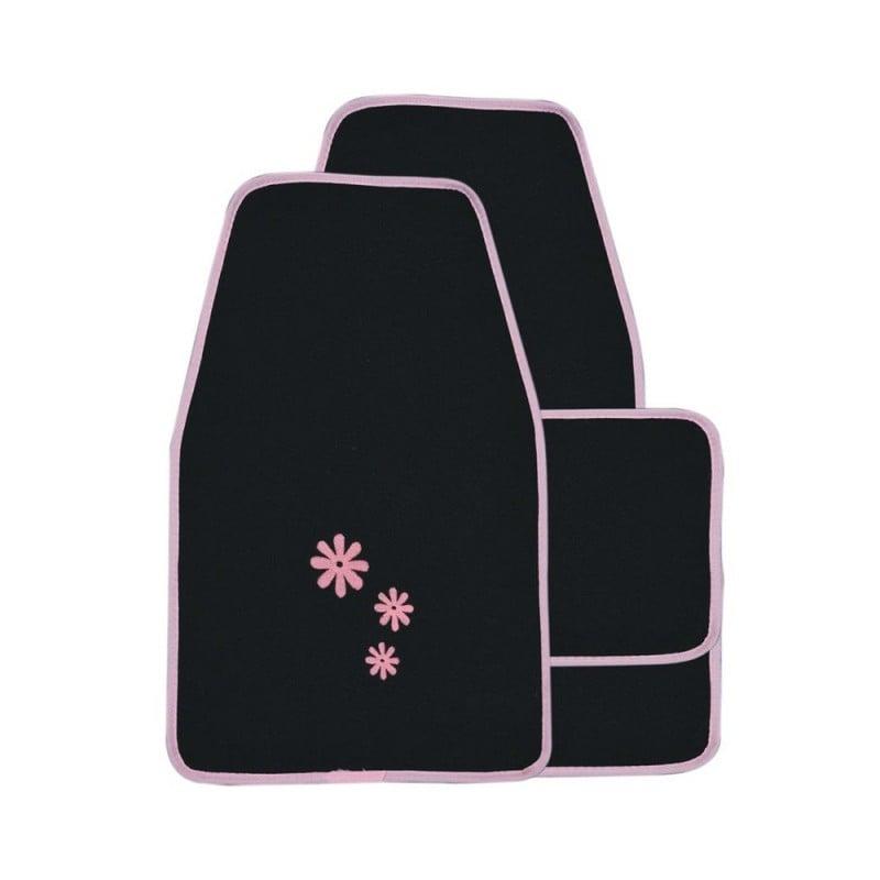 Housse de siège auto Daisy Noir et Rose 16 pièces (2)