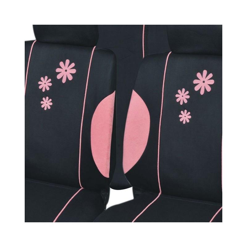 Housse de siège auto Daisy Noir et Rose 16 pièces (3)
