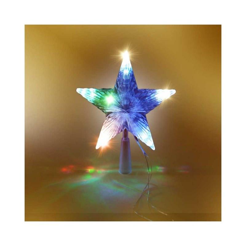 Cimier étoile de sapin de Noël multicolore (1)