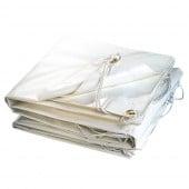 Bâche plastique PVC blanche 300g m2