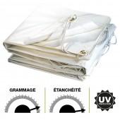 Bâche plastique PVC blanche 300g m2 (1)