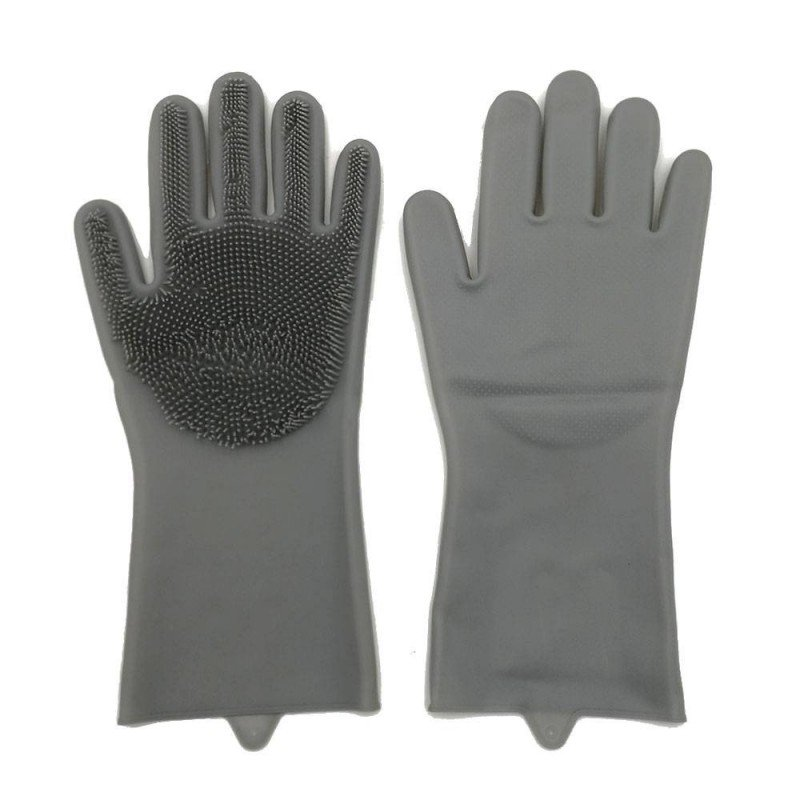 Gants de nettoyage avec éponge silicone intégrée (1)