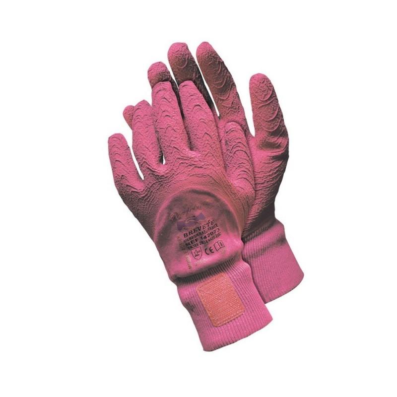Gants de jardinage taille des rosiers rose