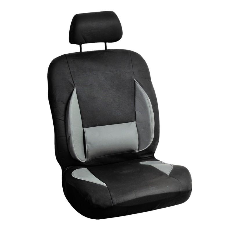 Housse de siège auto avant gris et noir