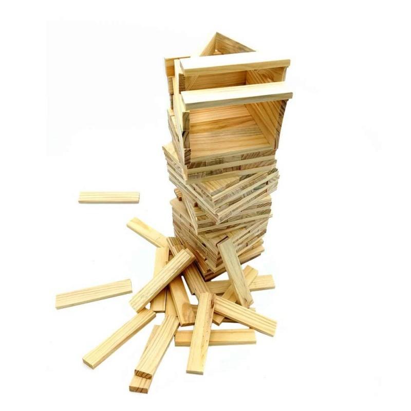 Jeu de construction de 200 planchettes en bois (1)