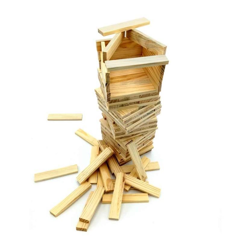 Jeu de construction de 200 planchettes en bois (2)