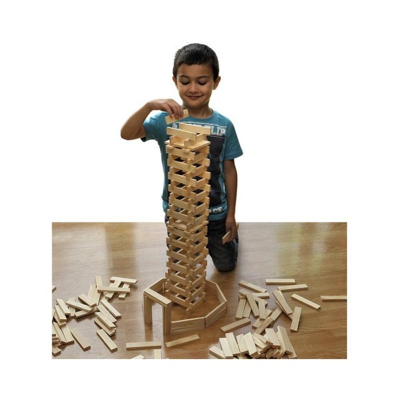 Jeu de construction de 200 planchettes en bois (4)