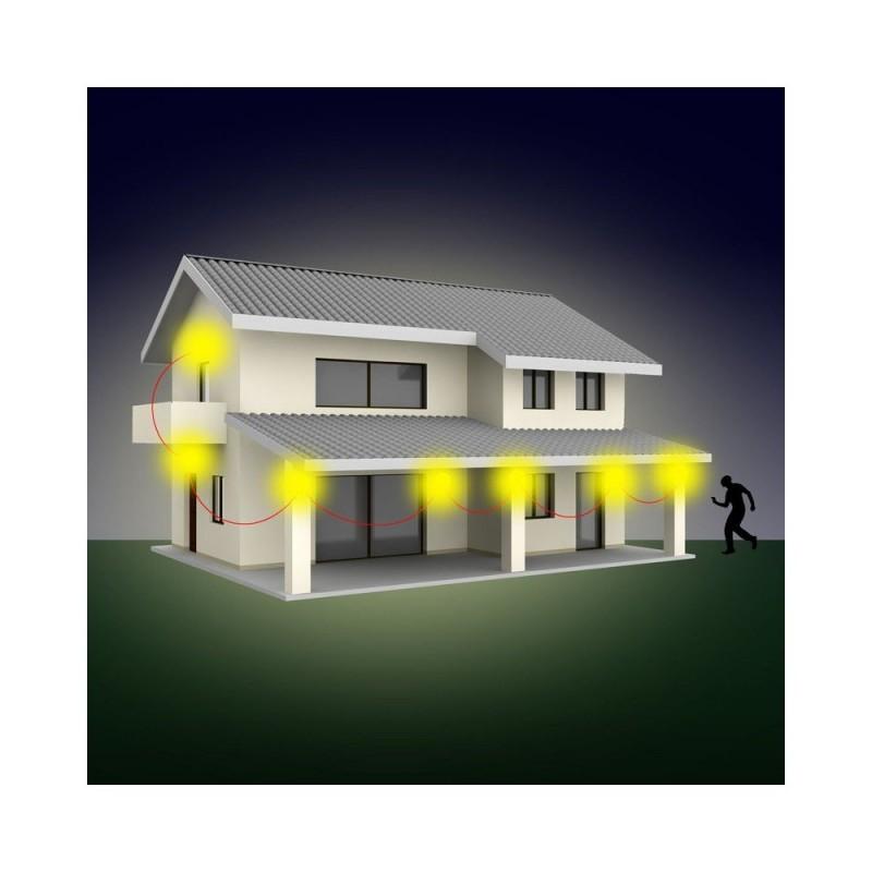 Appliques murales LED solaire avec détecteur de mouvements - lot de 2 (2)