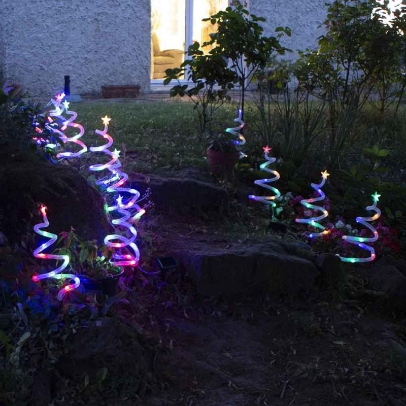 4 sapins de Noël lumineux spirale (1)