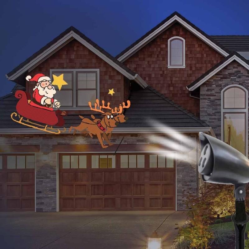 Projecteur LED animation Père-Noël (2)