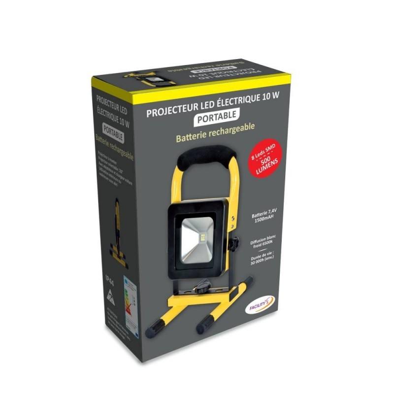 Projecteur LED rechargeable 10W (3)