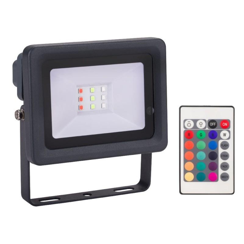 Projecteur LED Couleur 10 W avec télécommande