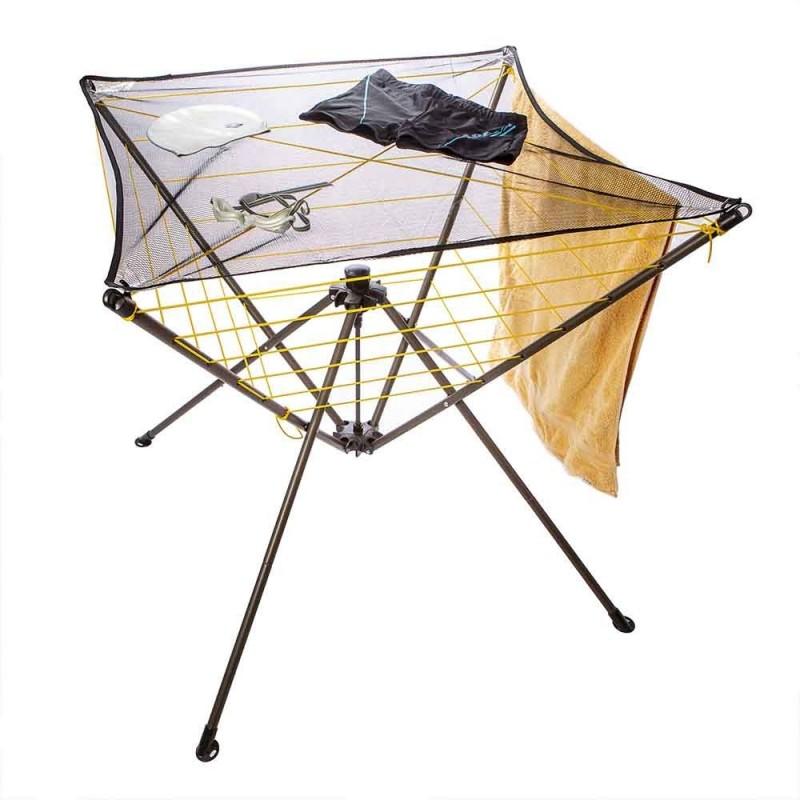 Étendoir à linge parapluie intérieur et camping (1)